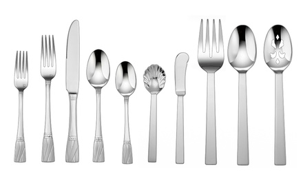 Cuisinart 65-Piece Flatware Set with Service for 12 and a 5-Piece Hostess Set