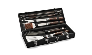 10-Piece Cuisinart Grilling Set with Leather Storage Case