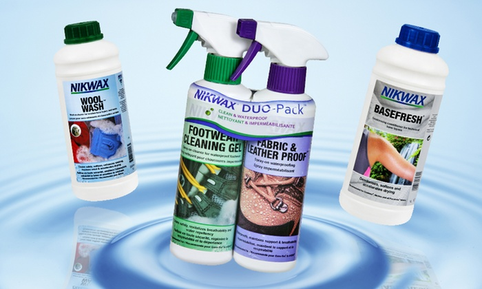 Nikwax Footwear Cleaning and Waterproofing Sprays or Fabric Cleaner: Nikwax Footwear Cleaning and Waterproofing Sprays or Fabric Cleaner. Multiple Options from $12.99–$15.99. Free Returns.