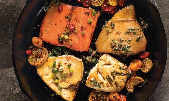 omaha steaks 2 6 oz yellowfin tuna steaks amazon com grocery