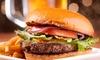 Soep en een hamburger naar keuze