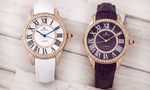 Empress Xenia Automatic Genuine Leather Watch