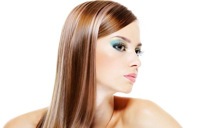 Haircut, Conditioning, and Style with Option for Partial Highlights or Color at Delight Hair Salon (Up to 58% Off)