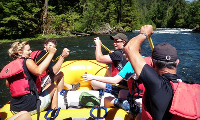 All-Star Outfitters - McKenzie River: 3-Mile Kayaking Trip for Four with Lunch, or 12-Mile Rafting Trip for Two with Lunch from All-Star Outfitters (Half Off)