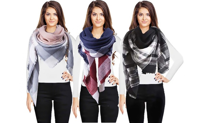 Oversized Woven Scarf from £8