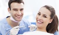Visita odontoiatrica con igiene orale, smacchiamento air flow e sbiancamento led