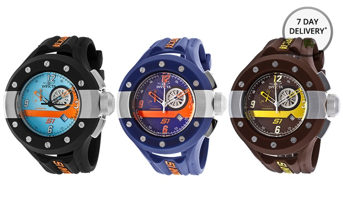 Invicta Men's S1 Rally Watch: Invicta Men's S1 Rally Watch in Black, Blue, or Brown. Free Returns.