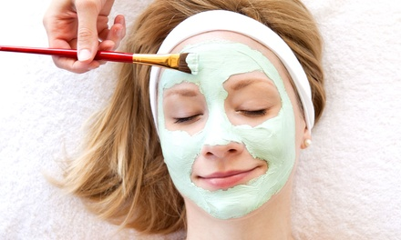 Organic, Handmade Blueberry-Soy Repair Facial Package at Caesar Spa (70% Off). Two Options Available.