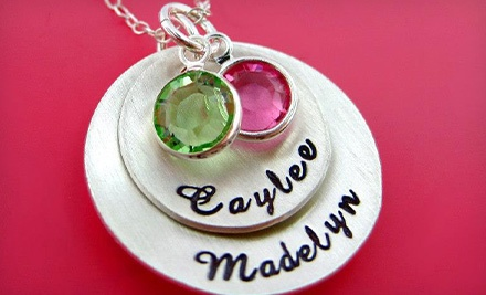 Personalized Hand-Stamped Jewelry from Hannah Design (Up to 55% Off). Three Options Available.
