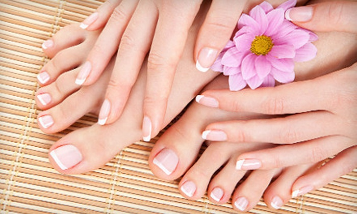 Definitions Salon - North Providence: Mani-Pedi, Shellac Mani-Regular Pedi, or Three Shellac Manicures at Definitions Salon (Up to 55% Off)