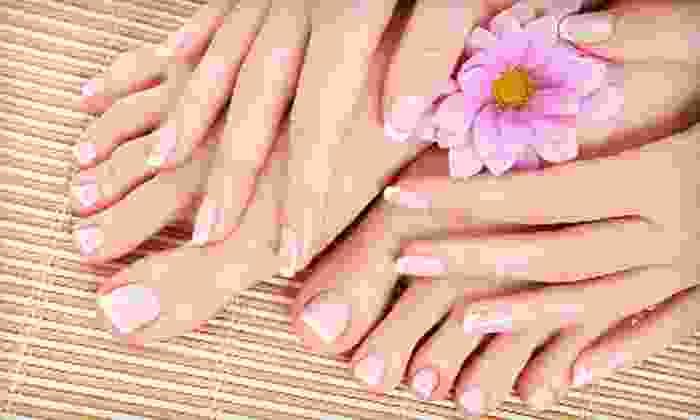 Definitions Salon - North Providence: Mani-Pedi, Shellac Mani-Regular Pedi, or Three Shellac Manicures at Definitions Salon (Up to 55% Off)