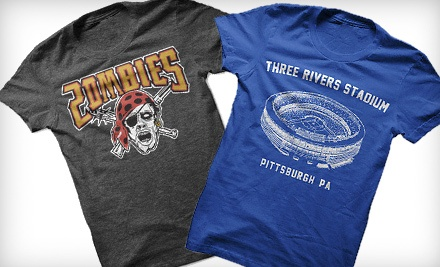 $20 for $40 Worth of Pittsburgh-Inspired T-shirts from Steel City Cotton Works