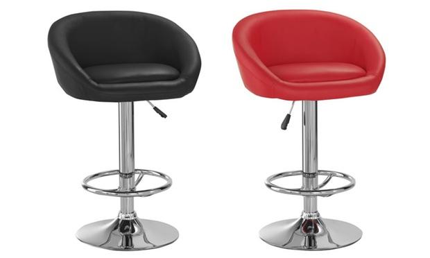 2 tabourets de bar design groupon. Black Bedroom Furniture Sets. Home Design Ideas