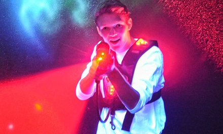 Two Hours of Jump Time for 2 or Laser Tag for 4 at AirMaxx Trampoline Park (79% Off)
