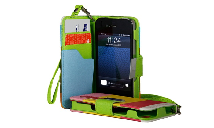 Wallet Case for iPhone 4/4s, 5/5s, or 5c: Wallet Case for iPhone 4/4s, 5/5s, or 5c. Multiple Colors Available. Free Returns.
