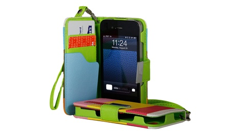 Wallet Case for iPhone 4/4s, 5/5s, or 5c. Multiple Colors Available. Free Returns.