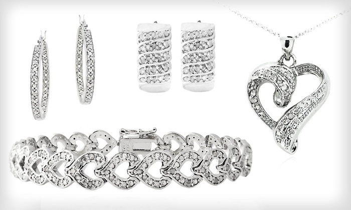 Diamond Jewelry: Diamond Earrings, Bracelets, and Necklaces (Up to 79% Off). 14 Styles Available. Free Shipping and Free Returns.