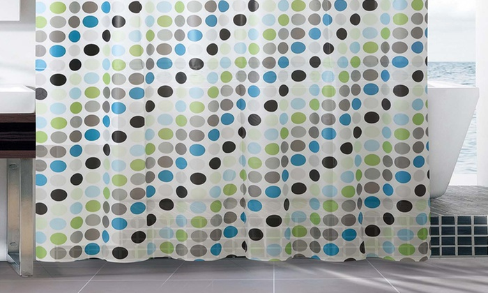 13 Piece Polka Dot Shower Curtain And Rings Bath Set ...