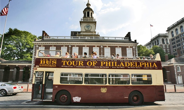 Philadelphia Trolley Works - Center City East: Hop-On, Hop-Off Bus Tour for One, Two, or Four from Philadelphia Trolley Works (Up to 55% Off)