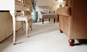 The Carpet Clinic: Basic, Advanced, or Ultimate Carpet Cleaning for Three Rooms from The Carpet Clinic (Up to 62% Off)