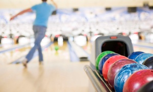 Hi-Way Lanes: Two Games of Bowling with Pizza and Drinks for Two, Four, or Six at Hi-Way Lanes (Up to 64% Off)