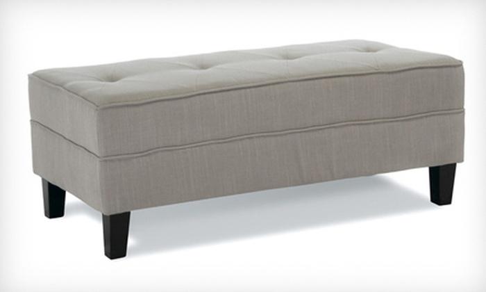 Lanark Gray-Sage Fabric Bench Ottoman: $109 for a Lanark Gray-Sage Fabric Bench Ottoman ($249.99 List Price). Free Shipping.