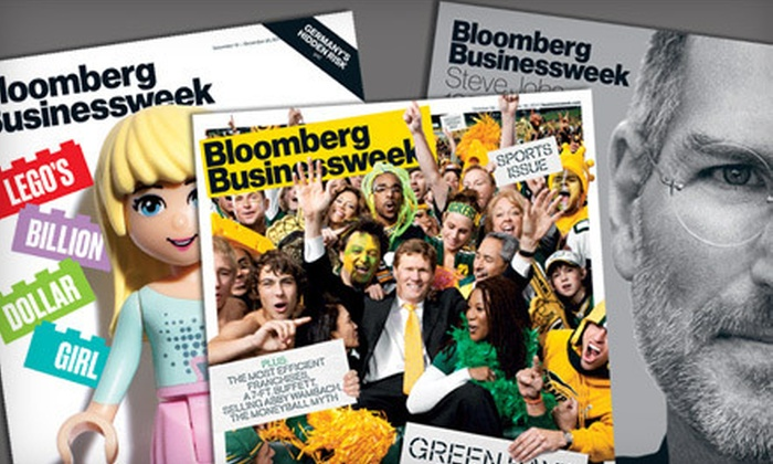"""""""Bloomberg Businessweek"""" - Charlotte: 50 or 100 Issues of """"Bloomberg Businessweek"""" (53% Off)"""