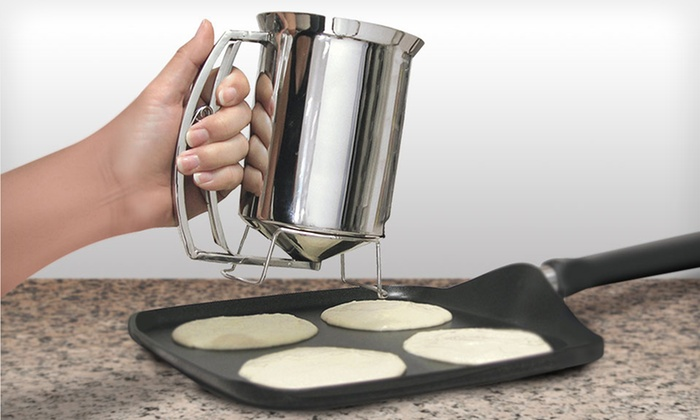 Chef Buddy Pancake Batter Dispenser: $9.99 for a Chef Buddy Pancake Batter Dispenser ($29.99 List Price). Free Returns.