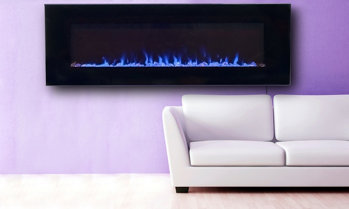 Northwest Wall-Mounted Electric Fireplace: Northwest Wall-Mounted Electric  Fireplace with Dual- - Northwest Electric Fireplace Groupon Goods