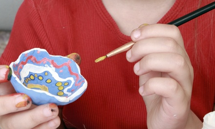 $12 for Five Paint-Your-Own Ceramics Sessions at Color Me Mine (Up to $45 Value)