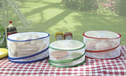3-Pack of Pop Up Outdoor Food Covers