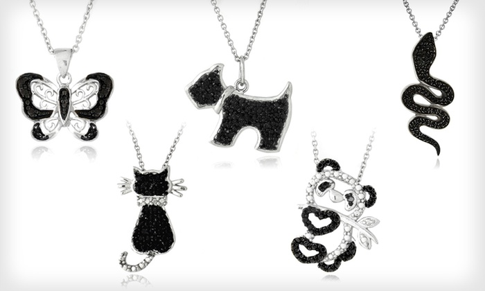 Black-Diamond Accent Animal Pendants: $19 for a Black-Diamond Accent Animal Pendant ($80 List Price). 13 Styles Available. Free Shipping and Free Returns.