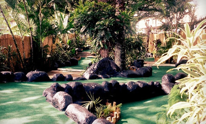 Jungle River Mini Golf - Aiea: Two Rounds of Mini Golf and Snacks for Two, Four, or Six at Jungle River Mini Golf (Up to 52% Off)