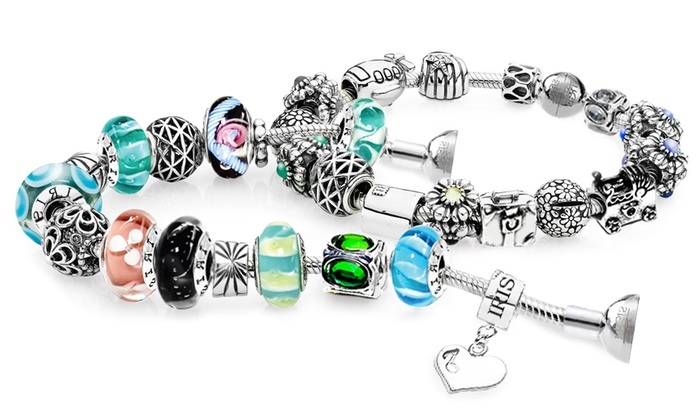 IRIS Beads & Charms: Custom Charm Bracelet or Necklace from IRIS Beads & Charms (Up to 84% Off). Three Options Available.