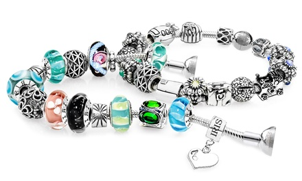 Custom Charm Bracelet or Necklace from IRIS Beads & Charms (Up to 84% Off). Three Options Available.