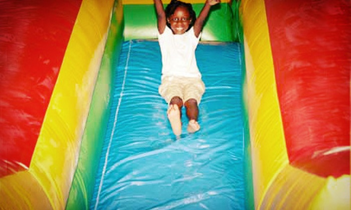 Jump-N-Play - Macon: All-Day Bounce-House Rental or Four-Hour Inflatable-Slide Rental from Jump-N-Play (Up to 69% Off)
