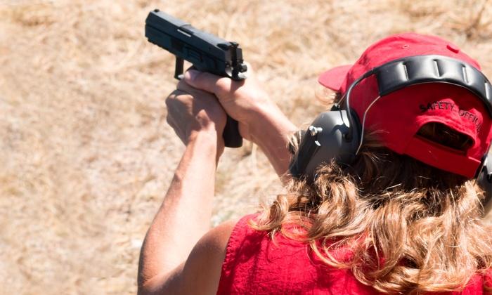 Women Taking Aim - Savannah / Hilton Head: Intro Handgun Course, NRA Certification Course, or CCW Course for One or Two by Women Taking Aim (Up to 52% Off)