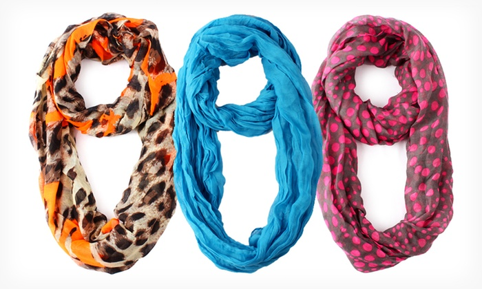 Infinity Scarves: $8.99 for an Infinity Scarf ($24 List Price). Multiple Designs Available. Free Returns.