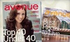 """Avenue Magazine Calgary: $12 for a One-Year Subscription to """"Avenue Magazine Calgary"""" ($25 Value)"""