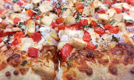 Pizza, Appetizers, and Beer for Two or Four at at Glass Nickel Pizza Co. (Up to 53% Off)