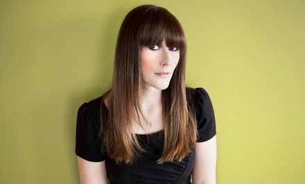 Blow-Dry Style with Haircut or Partial Highlights at Sunrise Hair Design (Up to 67% Off)