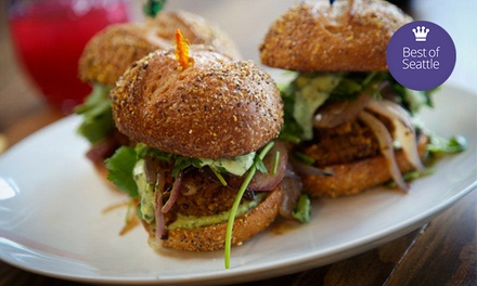 Gourmet Vegan Cuisine at Plum Bistro (50% Off). Two Options Available.
