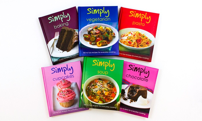 6 book love food cookbook series groupon goods 6 title love food cookbook series 6 title love food cookbook series with forumfinder Image collections