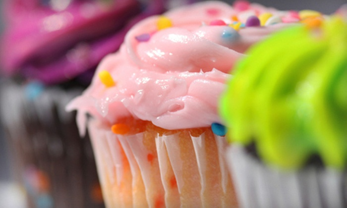 EJ's Sweets - San Antonio: One or Two Dozen Texas-Size Cupcakes or One Dozen Traditional Cupcakes with Free Delivery from EJ's Sweets (Half Off)