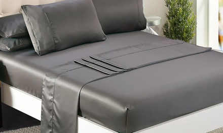 Silky Satin Sheets and Pillowcase Set: Single ($29), King Single ($35), Double ($39), Queen ($45) or King Size ($49)