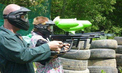 image for Paintball, BBQ and 100 Balls Each from £5 with Amazon Outdoor Events (Up to 92% Off)