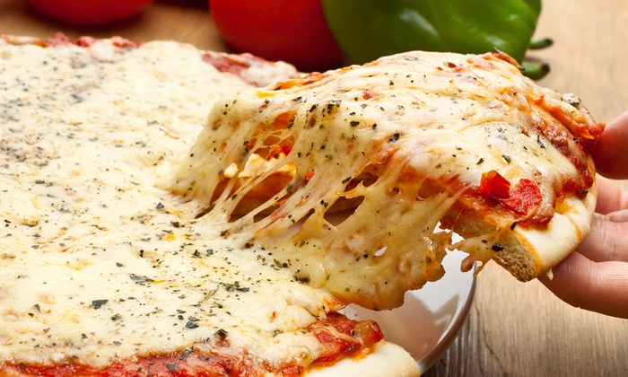 "Victor's Pizza - Austin: $18 for One 18"" One-Topping Pizza and One Order of Fries at Victor's Pizza ($22.80 Value)"