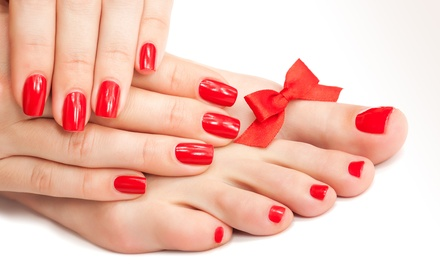 One, Two, or Three Groupons, Each Good for One Mani-Pedi at Roberto Giordano Salon and Spa (Up to 49% Off)