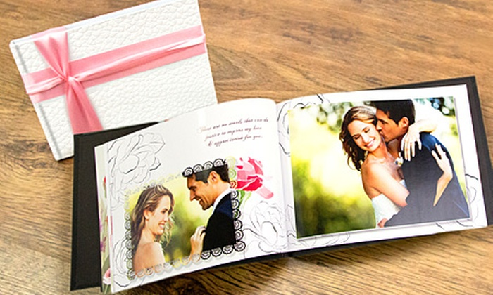 Printerpix OLD ACCOUNT DO NOT USE Personalised A4 Leather Wedding Photobook From 15