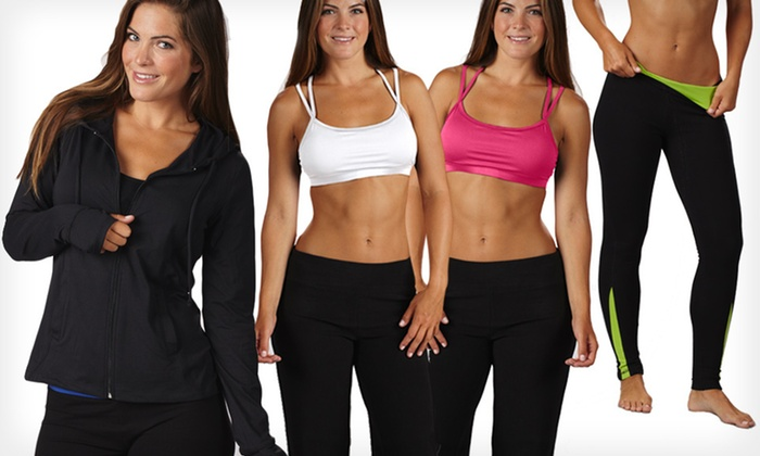 Bally Fitness Workout Apparel: Bally Fitness Hoodies, Leggings, and Sport Bras (Up to 83% Off). Multiple Sizes and Colours Available.
